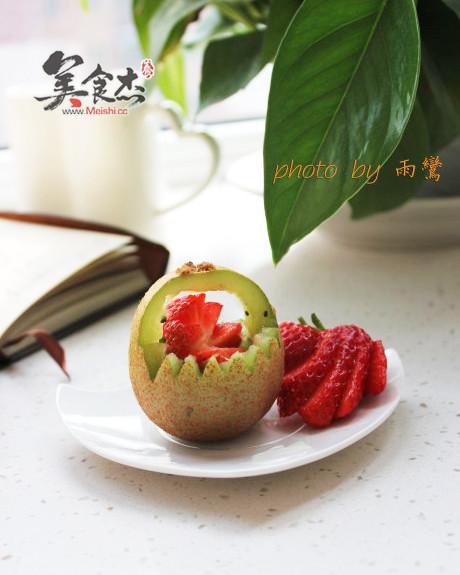 猕猴桃花篮_食材创意
