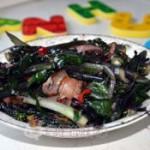 腊肉红菜苔