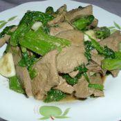 菠菜炒猪肝的做法
