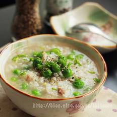 豌豆牛肉粥的做法