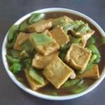蚝油豆腐丝瓜的做法