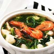 鲜虾荠菜汤的做法