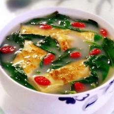 枸杞叶蛋皮汤的做法