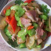 胡豆炒腊肉