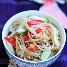 猪油炒米线的做法