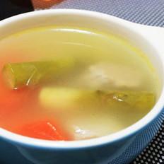 芦笋根瘦肉汤的做法