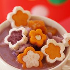 椰汁南瓜紫薯芋头煲的做法