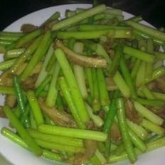 蒜苔炒牛肚的做法