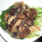 香菇扒生菜