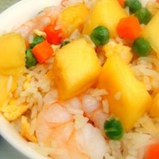 芒果虾仁炒饭的做法