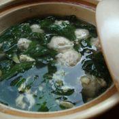枸杞叶肉丸汤