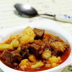 牛肉菜花汤的做法