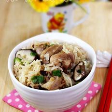 鲜菇鸡腿焗饭的做法