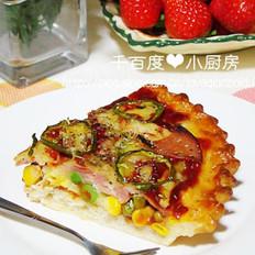 培根时蔬火腿尖角比萨