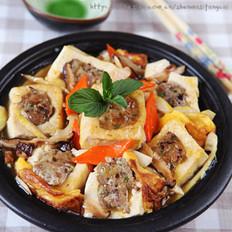 香菇豬肉釀豆腐煲的做法