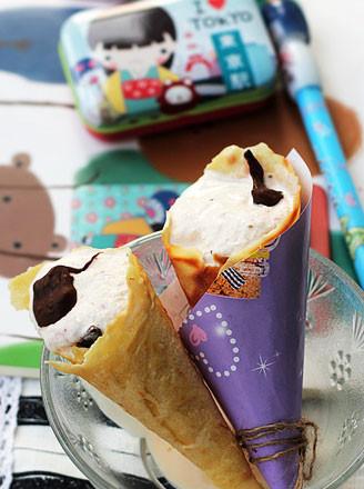 蛋卷冰淇淋