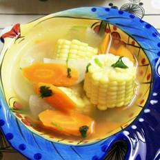 双色萝卜玉米汤