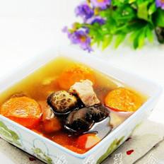 胡萝卜冬菇瘦肉汤的做法