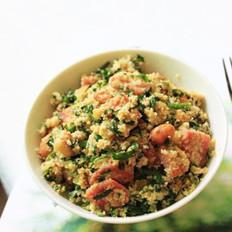 韭菜炒豆腐渣
