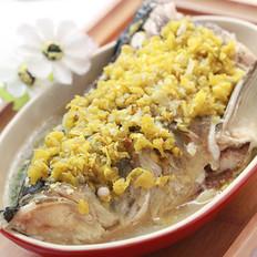 小米椒蒸鱼头的做法