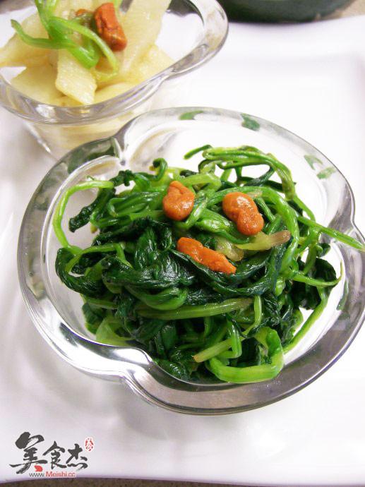 姜汁山药菠菜的做法