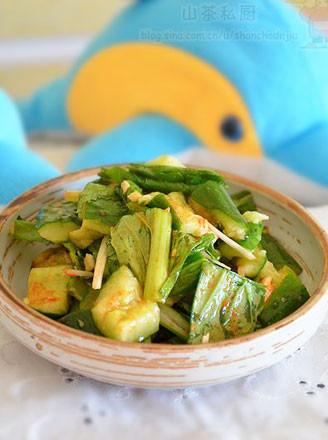 小白菜拌黄瓜的做法