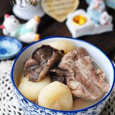 松蘑马蹄排骨汤的做法
