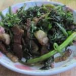 柳蒿芽炒肉丝