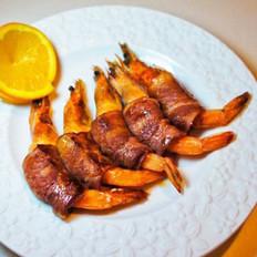 橙香培根虾卷的做法