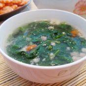 肉沫枸杞叶汤的做法