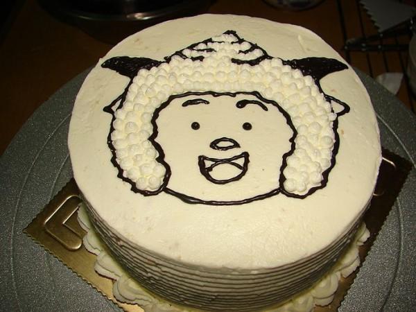 懒羊羊水果奶油蛋糕;