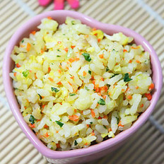 胡萝卜青菜炒饭的做法
