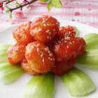 菠萝酱汁咕噜土豆球