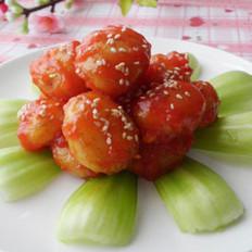 菠萝酱汁咕噜土豆球的做法