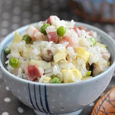 豌豆糯米饭的做法
