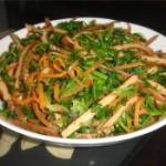 香菜拌干丝的做法