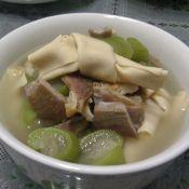 百叶结咸肉丝瓜汤的做法