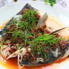香菇酱蒸鱼头的做法