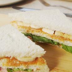 香蕉火腿三明治的做法