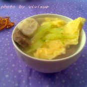 黄瓜鸡蛋肉丸汤的做法