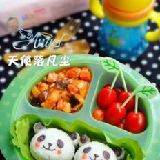 熊猫番茄红烩鸡肉饭的做法