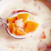 雪蛤牛奶炖木瓜的做法