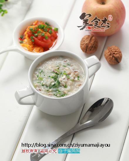 【图】香菇青菜肉末稀饭_香菇青菜肉末稀饭的
