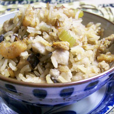 蝦干芋頭飯的做法
