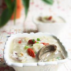燕麦猪肝粥的做法