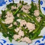 肉末油淋竹葉菜的做法