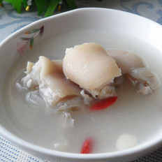 双色杏仁猪蹄汤
