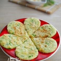 青椒虾皮鸡蛋饼的做法