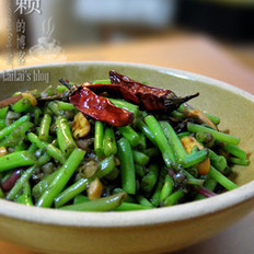 榄菜炒鲜苋菜梗的做法
