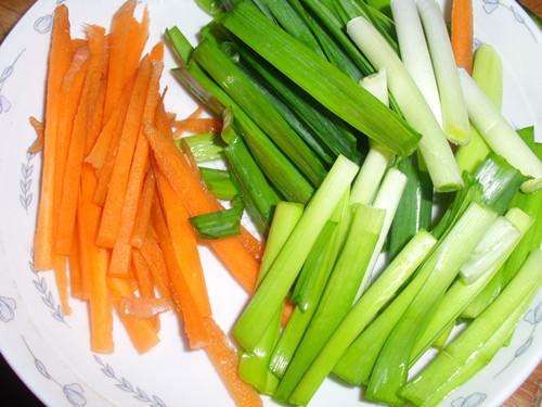 胡萝卜切好备用